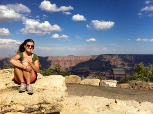 Jen at Grand Canyon